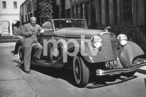 Cecil B. DeMille with his 1933 Lincoln ConvertibleC. 1933*M.W.* - Image 40_796