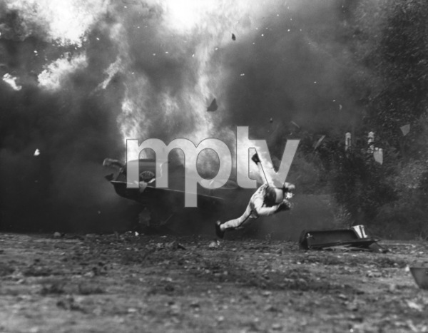 """Le Mans""Car Crash, Ferrari 512 S Photo by Mel Traxel1971 Solar Productions - Image 4170_0025"