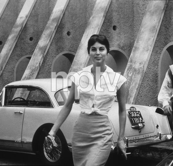 """""""Naked Maja, The""""Ava Gardner and her Facel Vega HK500, 1959. © 1978 AMPAS/ Sanford Roth - Image 4438_5"""