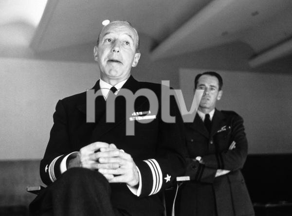 """The Caine Mutiny Court-Martial"" (Broadway Play)Lloyd Nolan, Henry Fonda1954 © 1978 Sanford Roth / A.M.P.A.S. - Image 4439_0002"