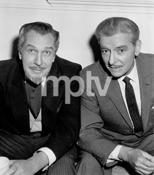 """""""The Story Of Mankind,""""Ronald Colman and Vincent Price.1957 Warner Bros.Photo by Pat Clark - Image 4512_0003"""