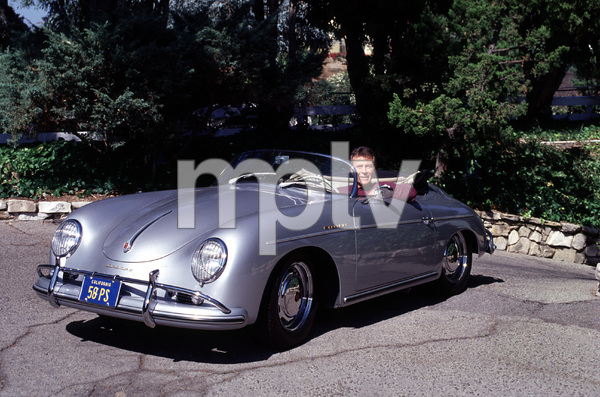 JAMES DARREN AT HOME IN THE SAN FERNANDO VALLEY CA,WITH HIS 1958 PORSHCE SPEEDSTER / 1999 © 1999 GENE TRINDL - Image 4760_0006