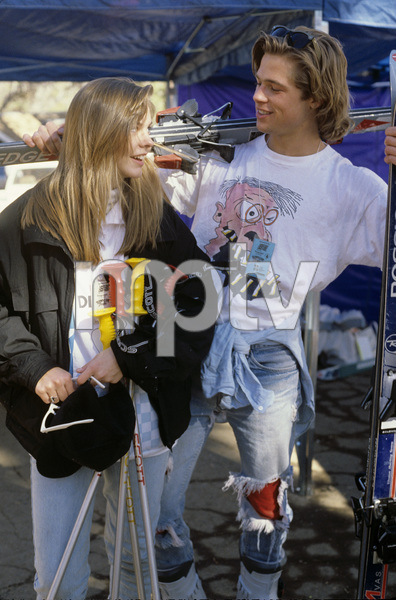 Brad Pitt and Shalane McCall1988© 1990 Gary Lewis - Image 4811_0029