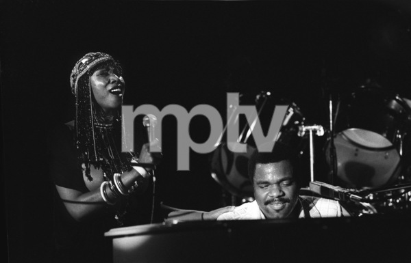 Billy Preston performing live with Syreeta Wright at the Roxy in Hollywood1979© 1979 Bobby Holland - Image 4884_0014
