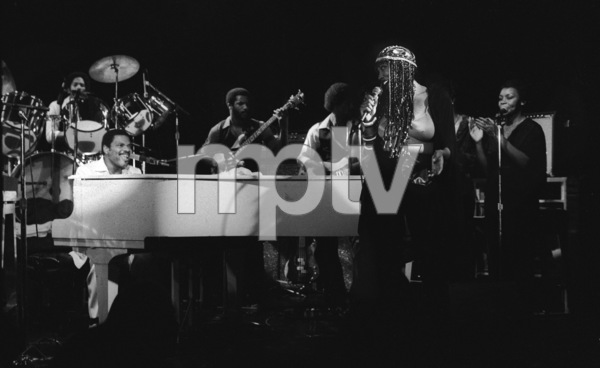 Billy Preston performing live with Syreeta Wright at the Roxy in Hollywood1979© 1979 Bobby Holland - Image 4884_0015