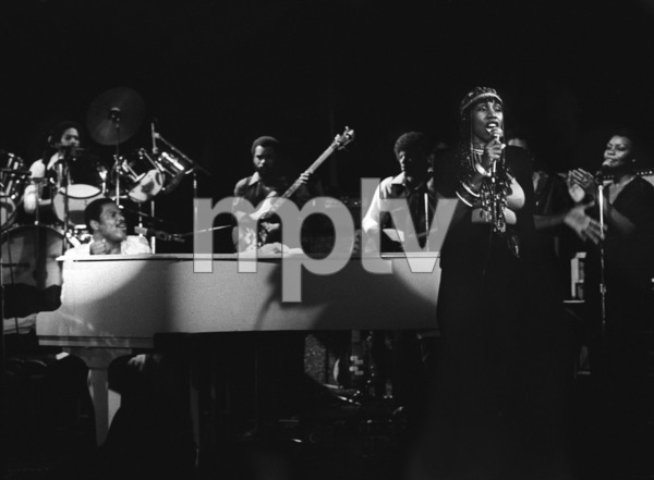 Billy Preston performing live with Syreeta Wright at the Roxy in Hollywood1979© 1979 Bobby Holland - Image 4884_0016