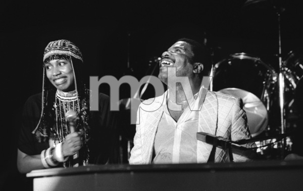 Billy Preston performing live with Syreeta Wright at the Roxy in Hollywood1979© 1979 Bobby Holland - Image 4884_0017