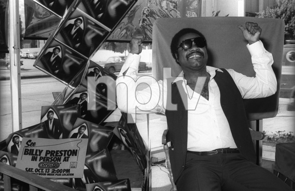 Billy Preston visiting Hollywood Music Plus Store to greet fans and Motown Records sales and promotion staff10-13-1979© 1979 Bobby Holland - Image 4884_0018