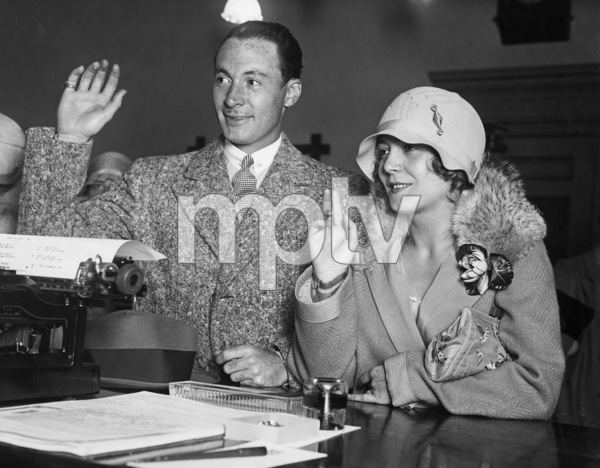 Rod La Rocque and Vilma Banky get license to wed in Los Angeles06-17-1927** Sheryl Deauville Collection - Image 4947_0006