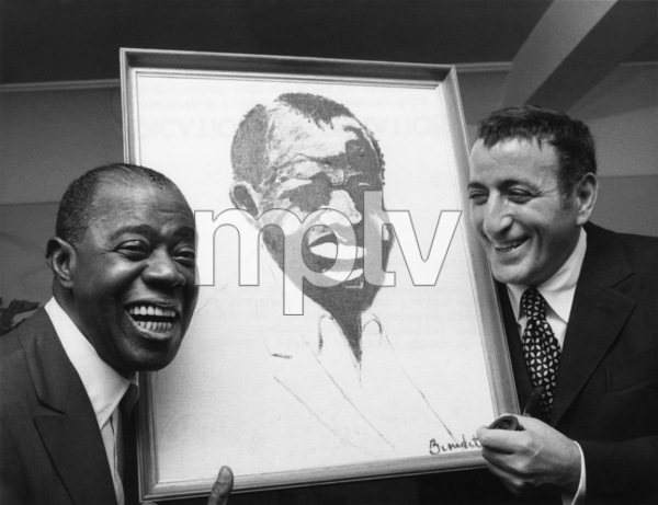 Louis Armstrong and Tony BennettOctober 1970** I.V. - Image 5062_0101