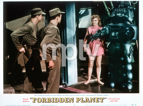 """""""The Forbidden Planet""""Anne Francis (Lobby Card)1956 MGM - Image 5089_0005"""