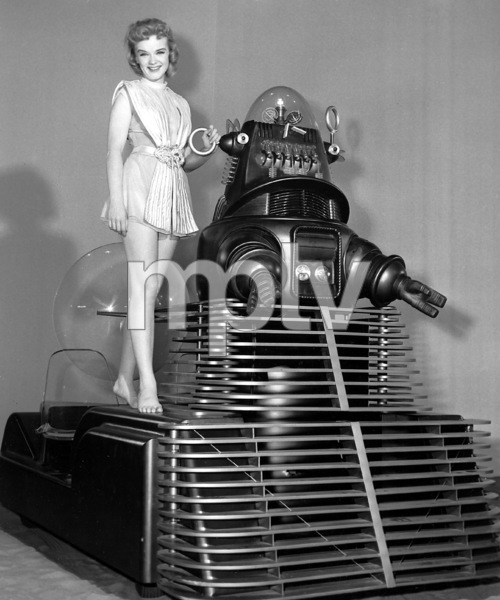 """""""Forbidden Planet"""", Anne Francis and Robby the Robot, MGM, 1956, **I.V - Image 5089_0037"""