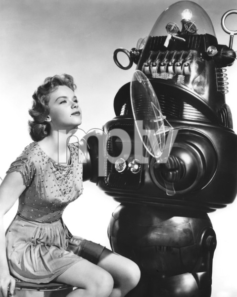 """Forbidden Planet""Anne Francis, Robby the Robot, MGM, 1956, **I.V. - Image 5089_0044"