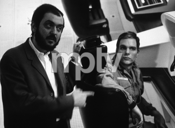 """""""2001: A Space Odyssey,""""Director Stanley Kubrick withKeir Dullea.  1968/MGM © 1978 John Jay - Image 5091_0177"""