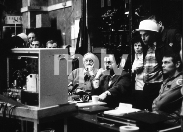"""""""2001: A Space Odyssey,""""Director Stanley Kubrick with Gary Lockwood (far right)1968 MGM © 1978 John Jay - Image 5091_0182"""