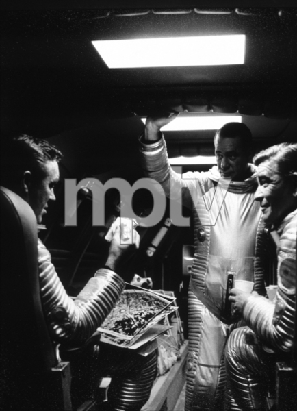 """""""2001: A Space Odyssey,""""William Sylvester (LFT)1968/MGM © 1978 John Jay - Image 5091_0188"""