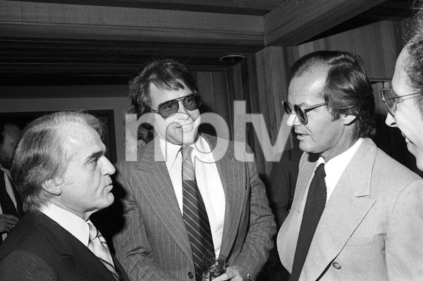 Jack Valenti, Warren Beatty and Jack Nicholson at Michael Douglas