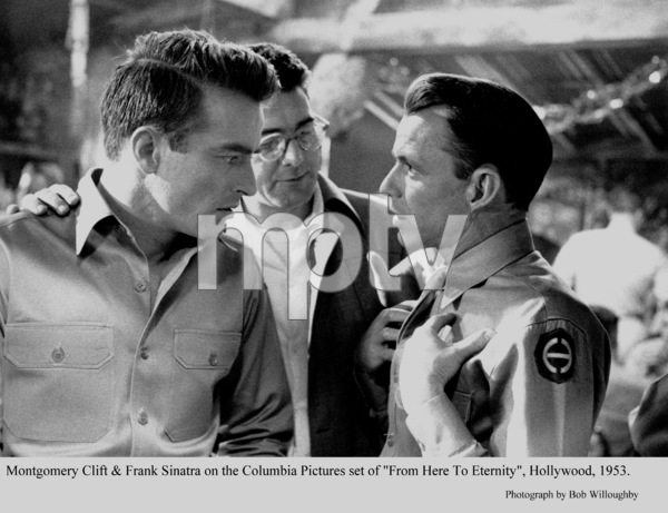 """""""From Here To Eternity""""Montgomery Clift & Frank Sinatra on the set. 1953 © 1978 Bob Willoughby - Image 5336_0037"""