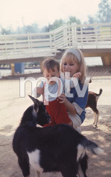 Barbara Eden at home with herson Matthew Ansara, c. 1967. © 1978 Gunther - Image 5357_0151