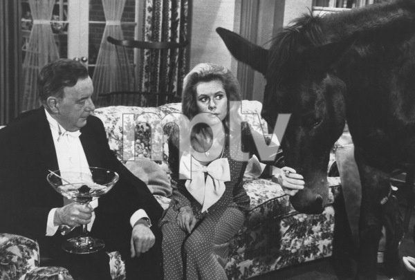 """Bewitched""Maurice Evans, Elizabeth Montgomeryc. 1968 ABC**I.V. - Image 5406_0075"
