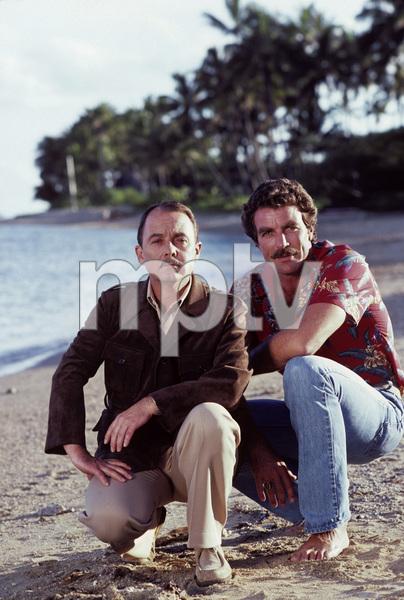 """""""Magnum P.I."""" John Hillerman, Tom Selleck 1981 © 1981 Gene Trindl - Image 5412_0077"""