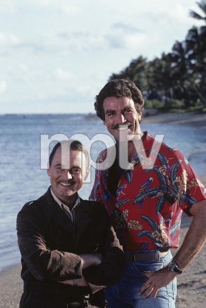 """""""Magnum P.I.""""John Hillerman, Tom Selleck1981© 1981 Gene Trindl - Image 5412_0113"""