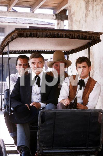 """Bonanza""L. Greene, P. Roberts, D. Blocker, M. Landon1960 NBC © 1978 Gene TrindlMPTV - Image 5424_0015"