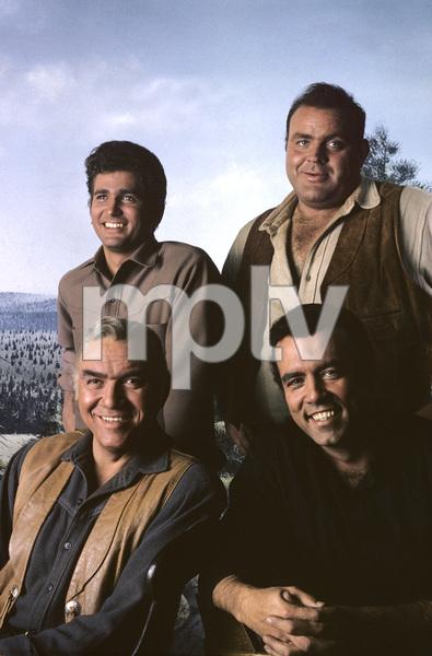 """Bonanza""Lorne Greene, Michael Landon, Pernell Roberts, Dan Blocker1964 © 1978 Gene Trindl - Image 5424_0018"