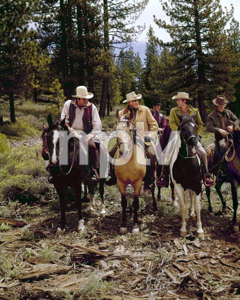 """Bonanza""Dan Blocker, Lorne Greene, David Canary, Michael Landoncirca 1962** H.L. - Image 5424_0024"