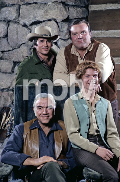 """Bonanza""Michael Landon, Dan Blocker, Lorne Greene, Mitch Vogel1971** H.L. - Image 5424_0030"