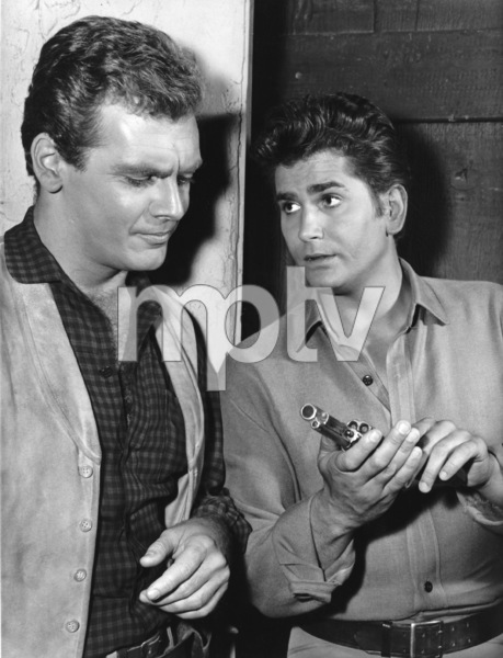 """Bonanza""Michael Landon, Guy Stockwell in ""Invention of a Gunslinger"" 1964**I.V. - Image 5424_51"