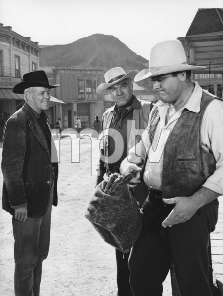 """Bonanza""Dan Blocker, Lorne Greene circa 1964**I.V. - Image 5424_58"