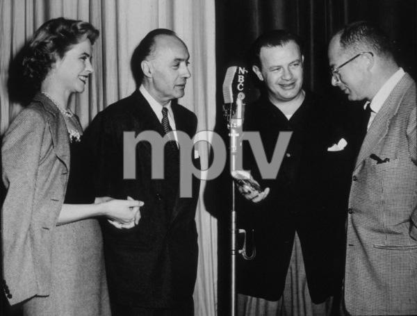 Billy Wilder, Joseph L. Mankiewicz and Charles Boyer circa 1955 Photo by Gabi Rona - Image 5447_0006