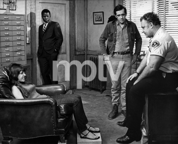 """""""In the Heat of the Night""""Sidney Poitier, Rod Steiger, Quentin Dean1967 United Artists - Image 5502_0081"""