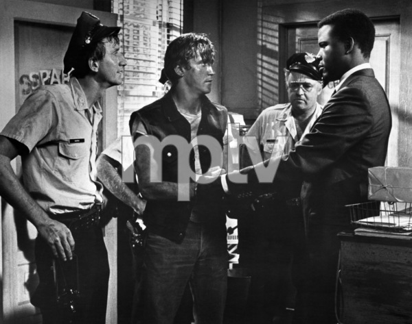 """In the Heat of the Night""Sidney Poitier, Scott Wilson, Rod Steiger1967 United Artists - Image 5502_0083"