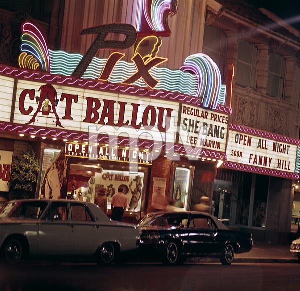 """Pix theater playing """"Cat Ballou"""" 1965 © 1978 Sid Avery"""
