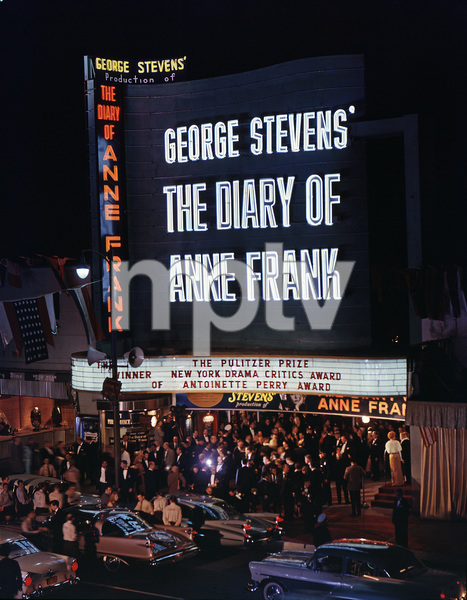 """Theater premiere of """"The Diary of Anne Frank""""1959 © 1978 Sid Avery - Image 5648_0157"""