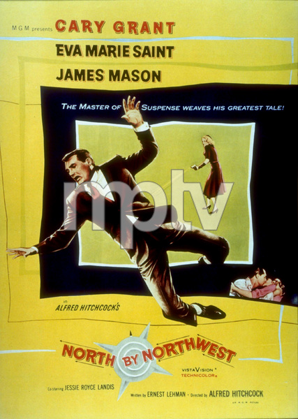 """North By Northwest,""Color Poster.1959 MGM - Image 5667_0006"