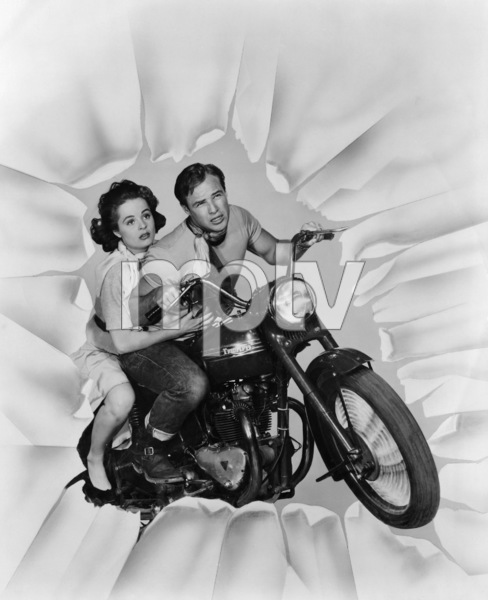 """The Wild One""Mary Murphy, Marlon Brando1953 Columbia PicturesPhoto by William E. Cronenweth** I.V. - Image 5689_0012"