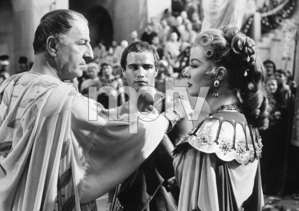 "Louis Calhern, Marlon Brando, Geer GarsonFilm Set / MGM""Julius Caesar"" (1953)Copyright John Swope Trust / MPTV - Image 5692_0005"