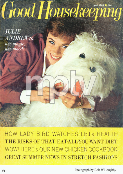"""Julie Andrewson the cover of """"Good Housekeeping""""photographed in Beverly Hills, 1964. © 1965/2002 Bob Willoughby - Image 5722_0155"""