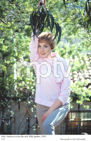 Julie Andrewsin her Beverly Hills garden, 1965. © 1978 Bob Willoughby - Image 5722_0163