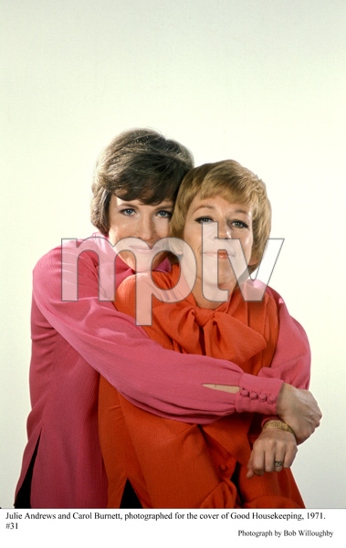 Julie Andrews and Carol Burnett,photographed for the cover of