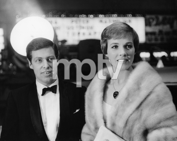 """Tony Walton and Julie Andrews at the New York premiere of """"The Americanization of Emily""""1964** I.V. - Image 5722_0200"""