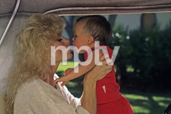 Loni Anderson and son Quinton1988© 1988 Mario Casilli - Image 5727_0059