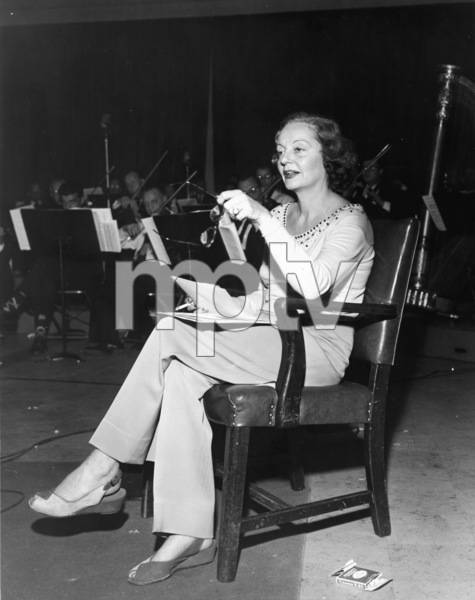 Tallulah Bankhead at NBC radio studio stageC. 1950