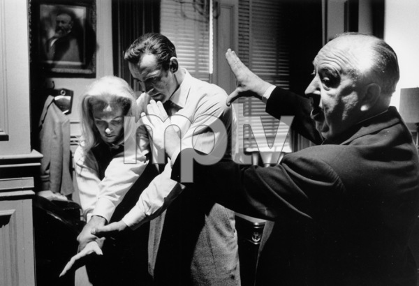 """Marnie""Sean Connery, Tippi Hedren and director Alfred Hitchcock1964 © 1978 Bob Willoughby - Image 5733_0047"