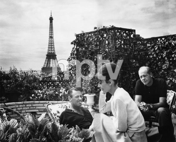 """Paris When It Sizzles""William Holden, Audrey Hepburn, director Richard Quine1964 Paramount PicturesPhoto by Mel Traxel - Image 5734_0078"