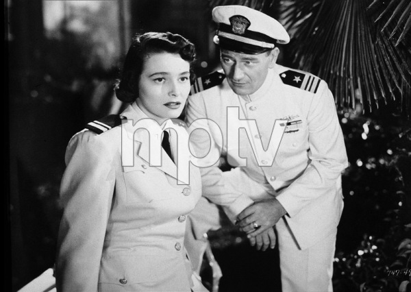 """Operation Pacific,"" Warner Bros. 1950.Patricia Neal and John Wayne. - Image 5760_0035"