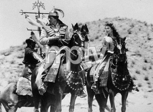 """""""The Conqueror,"""" Howard Hughes/RKO 1955.John Wayne and Susan Hayward.Photo by Alexander Kahle. - Image 5761_0022"""